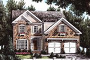 Country Style House Plan - 4 Beds 3 Baths 1995 Sq/Ft Plan #927-671 Exterior - Front Elevation