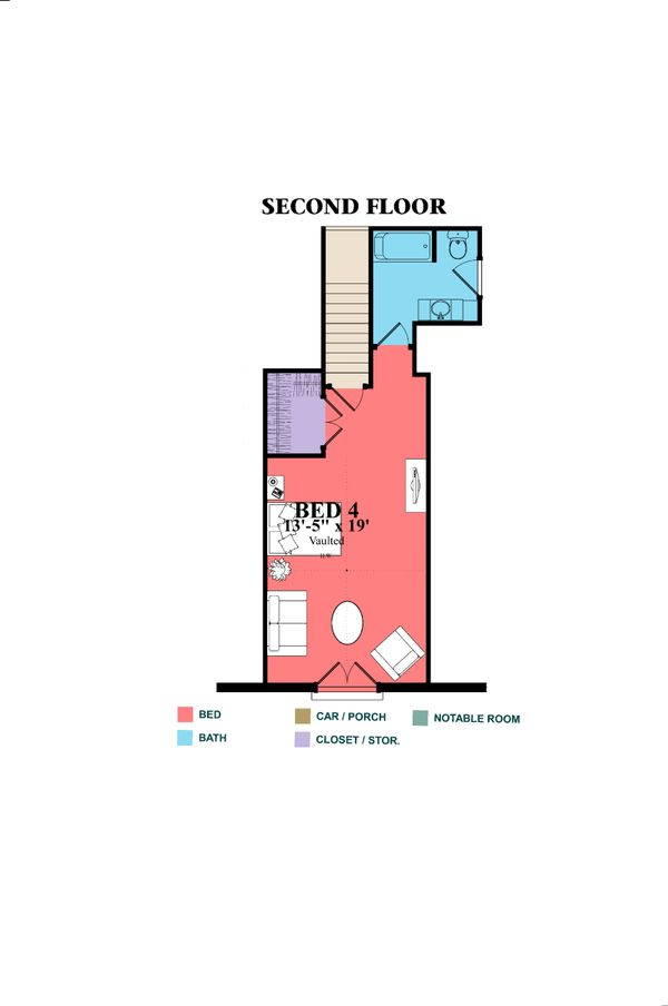 European Floor Plan - Upper Floor Plan Plan #63-415
