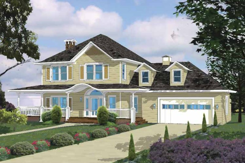 Traditional Exterior - Front Elevation Plan #1042-7 - Houseplans.com
