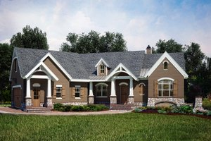 European Exterior - Front Elevation Plan #119-427