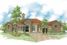 Home Plan Design - Mediterranean Exterior - Front Elevation Plan #930-422