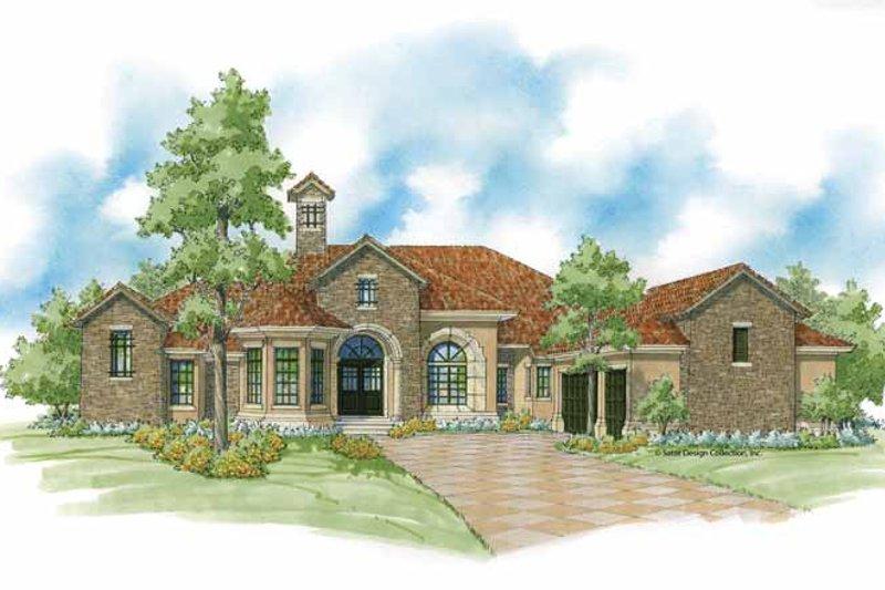 House Plan Design - Mediterranean Exterior - Front Elevation Plan #930-422
