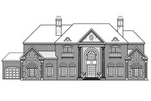 Colonial Exterior - Rear Elevation Plan #419-235