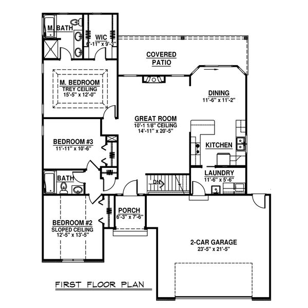 Home Plan - Craftsman Floor Plan - Main Floor Plan #1064-61