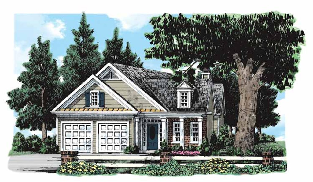 Classical Exterior Front Elevation Plan 927 172