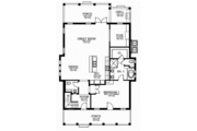 Southern Style House Plan - 4 Beds 3.5 Baths 3158 Sq/Ft Plan #1058-75 Floor Plan - Main Floor Plan