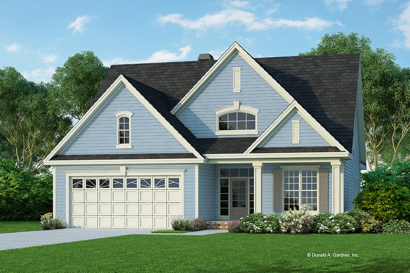 Architectural House Design - Country Exterior - Front Elevation Plan #929-757