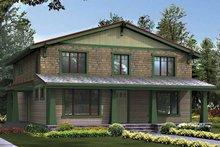 Architectural House Design - Craftsman Exterior - Front Elevation Plan #132-405