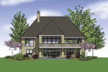 Home Plan - Traditional Exterior - Rear Elevation Plan #48-863
