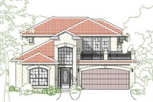 Mediterranean Exterior - Front Elevation Plan #80-153