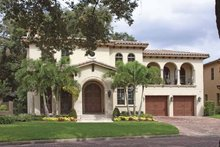Home Plan - Mediterranean Exterior - Front Elevation Plan #1019-3