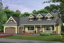 Architectural House Design - Craftsman Exterior - Front Elevation Plan #132-343