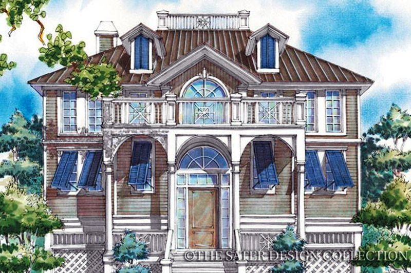 Home Plan - Classical Exterior - Front Elevation Plan #930-76