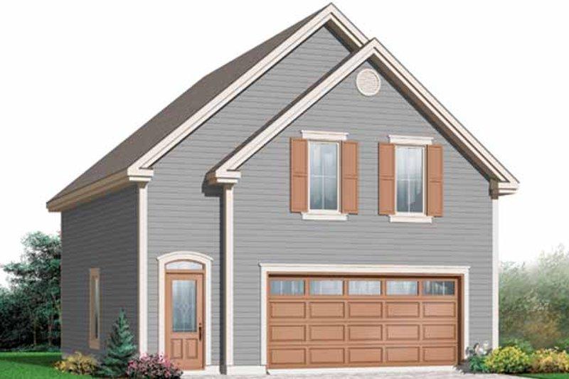 Dream House Plan - Craftsman Exterior - Front Elevation Plan #23-2476