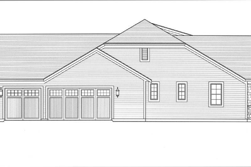 Craftsman Exterior - Other Elevation Plan #46-838 - Houseplans.com