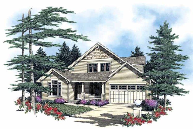Craftsman Exterior - Front Elevation Plan #48-765