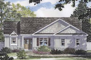 Dream House Plan - European Exterior - Front Elevation Plan #316-256