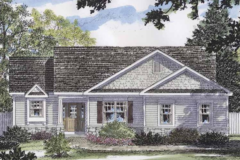 European Exterior - Front Elevation Plan #316-256