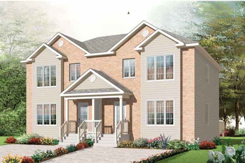 Traditional Exterior - Front Elevation Plan #23-2411 - Houseplans.com