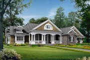 Traditional Style House Plan - 4 Beds 3 Baths 3500 Sq/Ft Plan #132-206 Exterior - Front Elevation