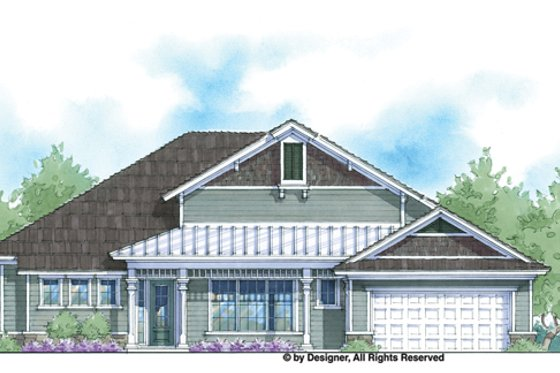 Country Exterior - Front Elevation Plan #938-68