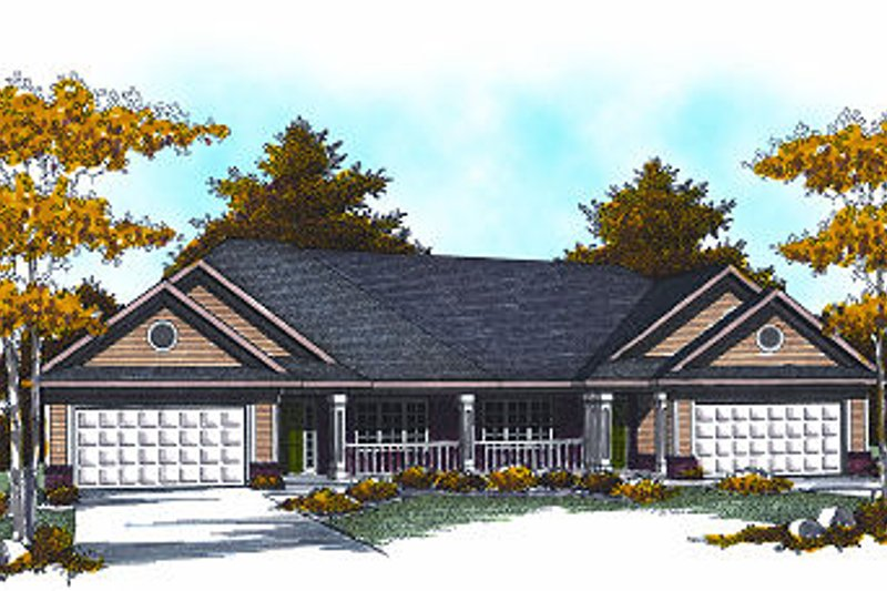 Traditional Exterior - Front Elevation Plan #70-891 - Houseplans.com