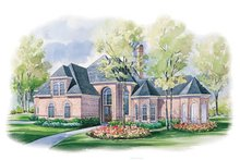 Home Plan - European Exterior - Front Elevation Plan #20-1180