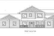 Craftsman Style House Plan - 5 Beds 4.5 Baths 4459 Sq/Ft Plan #117-879 Exterior - Front Elevation