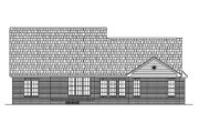 Colonial Style House Plan - 3 Beds 2.5 Baths 2400 Sq/Ft Plan #430-32 Exterior - Rear Elevation