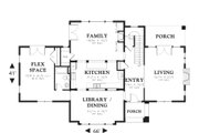Traditional Style House Plan - 4 Beds 3 Baths 3529 Sq/Ft Plan #48-564 Floor Plan - Main Floor Plan