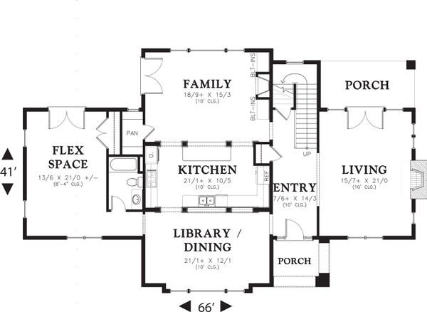 Traditional Floor Plan - Main Floor Plan Plan #48-564