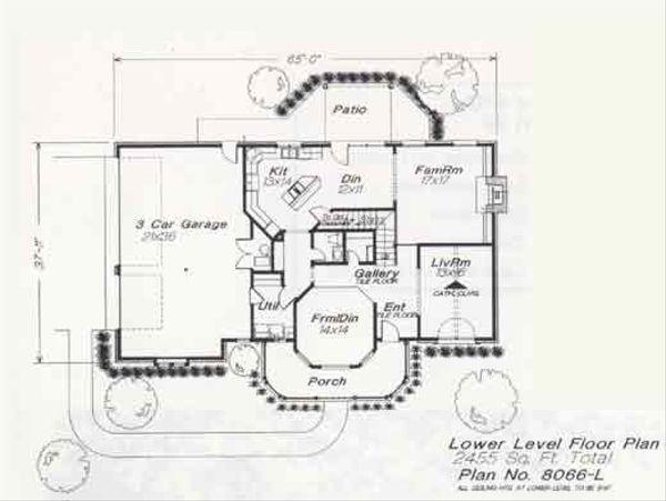 Colonial Floor Plan - Main Floor Plan #310-818