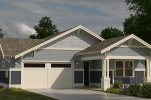 Craftsman Exterior - Front Elevation Plan #895-103