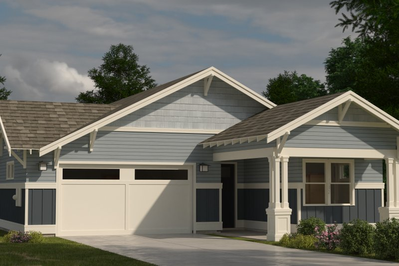 Craftsman Style House Plan - 3 Beds 2 Baths 1760 Sq/Ft Plan #895-103 Exterior - Front Elevation