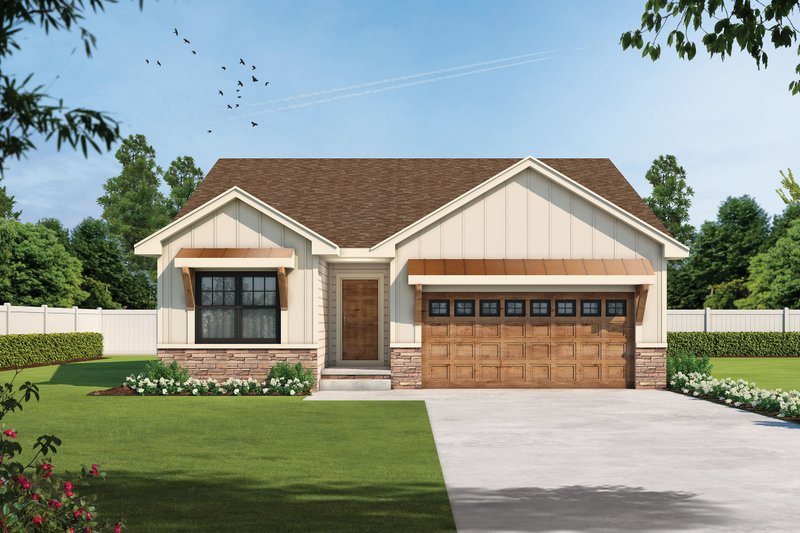 House Plan Design - Farmhouse Exterior - Front Elevation Plan #20-2477