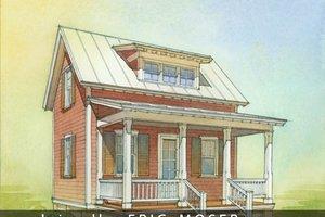 Cottage Exterior - Front Elevation Plan #514-8