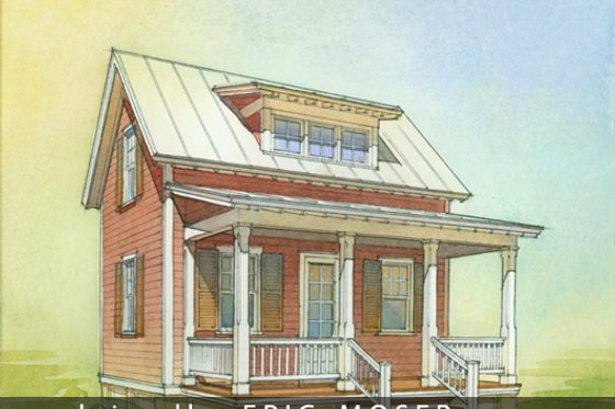 Cottage Exterior - Front Elevation Plan #514-8