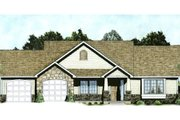 Traditional Style House Plan - 2 Beds 2 Baths 1333 Sq/Ft Plan #58-211 Exterior - Front Elevation