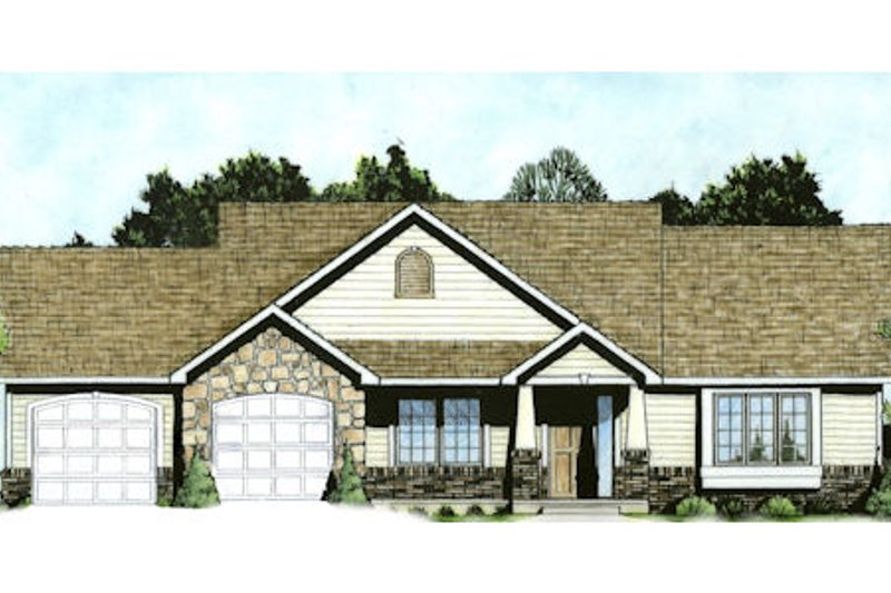 Traditional Style House Plan - 2 Beds 2 Baths 1333 Sq/Ft Plan #58-211