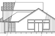 Contemporary Style House Plan - 2 Beds 2 Baths 1611 Sq/Ft Plan #124-388 Exterior - Rear Elevation