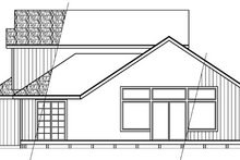 Home Plan - Contemporary Exterior - Rear Elevation Plan #124-388