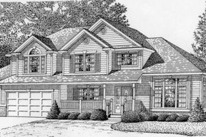 Traditional Exterior - Front Elevation Plan #112-134