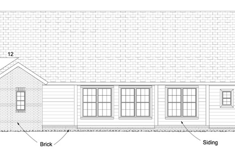 Traditional Exterior - Rear Elevation Plan #513-2061 - Houseplans.com