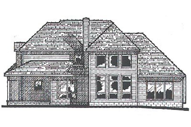 Traditional Exterior - Rear Elevation Plan #20-964 - Houseplans.com