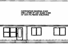 Farmhouse Exterior - Rear Elevation Plan #53-137