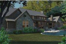 House Plan Design - Craftsman Exterior - Rear Elevation Plan #120-186