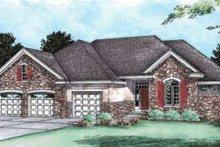 Dream House Plan - Traditional Exterior - Front Elevation Plan #20-1781