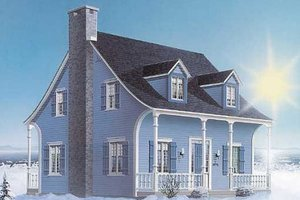 Colonial Exterior - Front Elevation Plan #23-2073