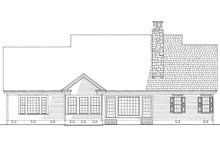 House Plan Design - Country Exterior - Rear Elevation Plan #137-274