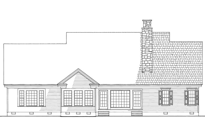Country Exterior - Rear Elevation Plan #137-274 - Houseplans.com
